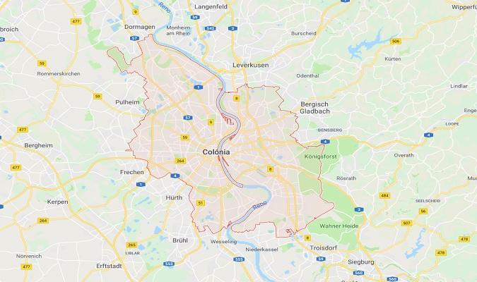 Mapa de Colonia Alemania