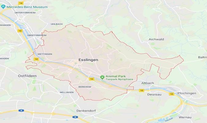 Mapa de Esslingen am Neckar