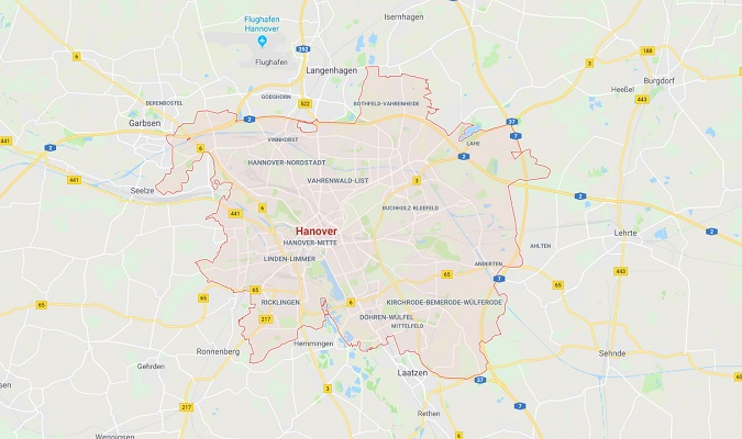 Mapa de Hannover