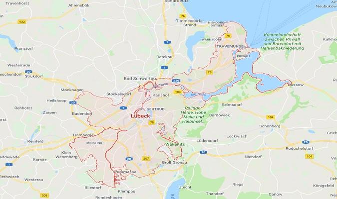 Mapa de Lübeck
