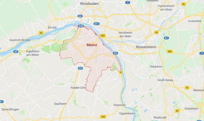 Mapa de Mainz