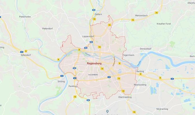 Mapa de Regensburg