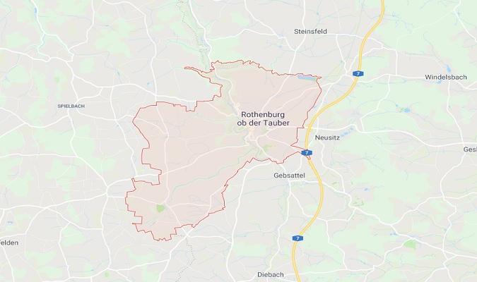 Mapa de Rothenburg ob der Tauber