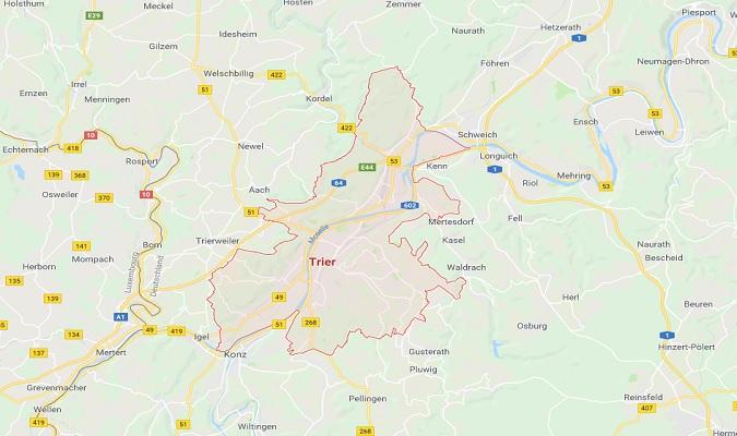 Mapa de Trier