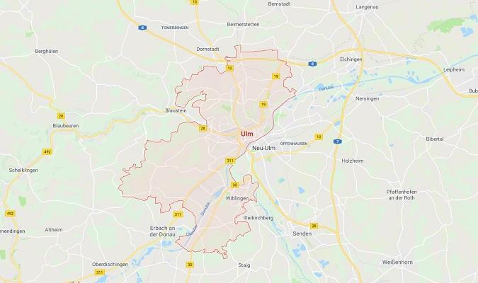 Mapa de Ulm