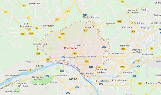 Mapa de Wiesbaden