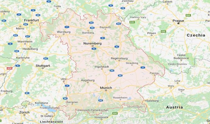 Mapa de Baviera