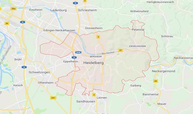 Mapa de Heidelberg